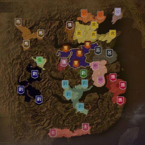 三国志14 198年3月初期マップ