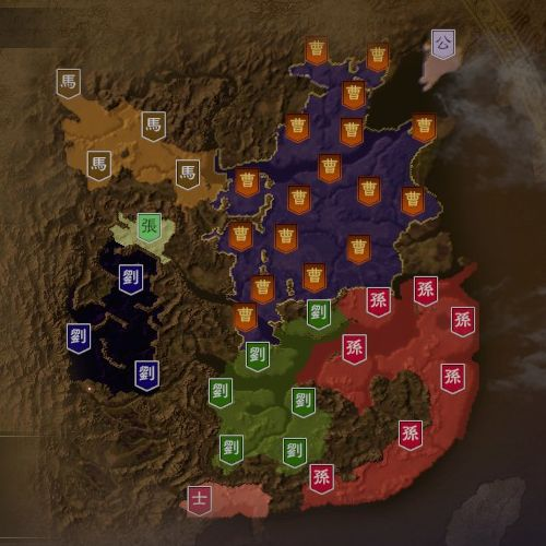 三国志14 211年7月初期マップ