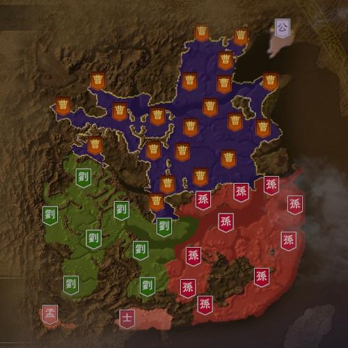 三国志14 217年7月初期マップ