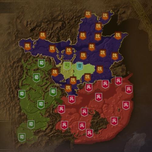 三国志14 249年1月初期マップ